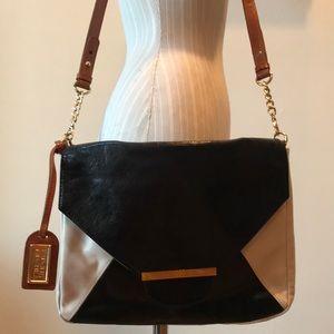 Tri-color leather Badgley Mischka crossbody bag
